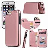 iPhone 6s,6 Wallet Case,iPhone 6 Case with Card Holder,Aprilday iPhone 6 Slim Fit Premium Leather [Kickstand Feature] Case Card Slots Shockproof Folio Flip Case with ID&Credit Card Pockets (Rosegold)