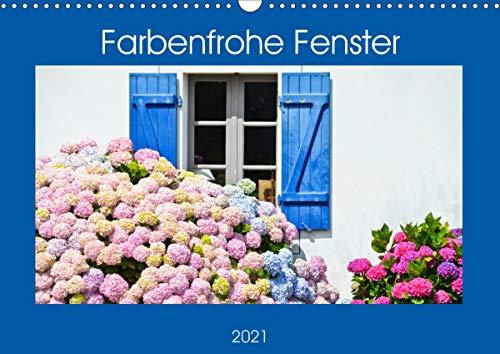 Farbenfrohe Fenster (Wandkalender 2021 DIN A3 quer)