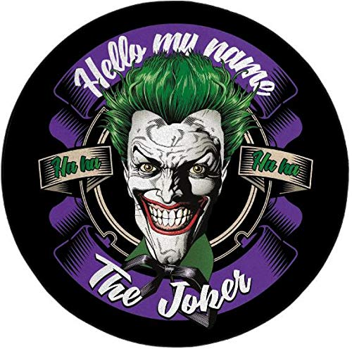 THE JOKER - Microfiber mat - 80cm diameter - Hello my name is Joker