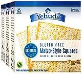Yehuda Matzo Squares Gluten Free 10.5 oz (3 Pack) Delicious Tasting Crispy Matzo Style Crackers