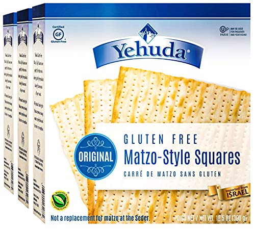 Yehuda Matzo Squares Gluten-Free 10.5 Ounce Pack of 3