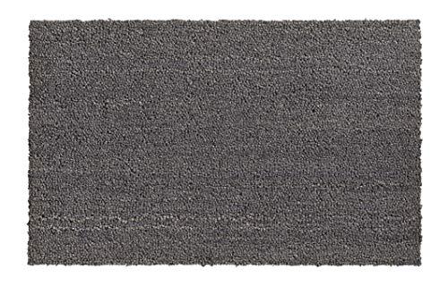 Hamat Fußmatte Ruco für den Innen- und Außenbereich, Kokosfaser, Farbe: Grau, 40 x 70 cm
