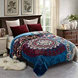 JML Fleece Blanket King Size, Korean Mink Blanket 85 X 95 Inches- 9 Lbs, Single Ply, Soft and Warm, Thick Raschel Printed Mink Blanket for Autumn,Winter,Bed,Home