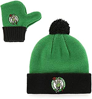 OTS NBA Toddler Pow Pow Knit Cap & Mittens Set