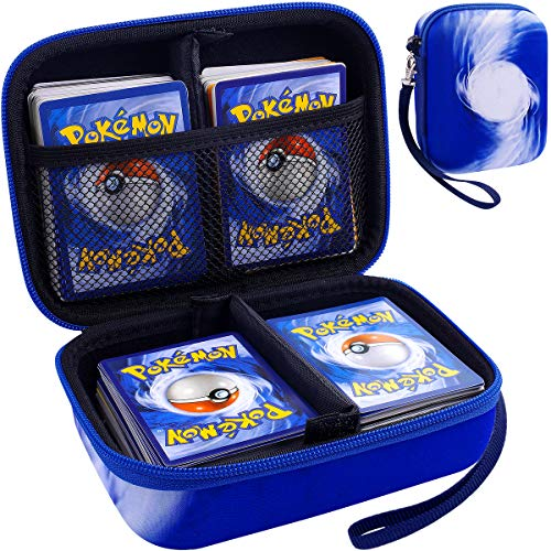 Card Holder Compatible for UNO Phase 10PM TCG Cards All Card Game Storage Box Binder Fits Up 400 Cards GameBlue