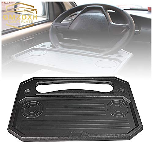 QMZDXH Car Desk Steering Wheel Tray for Laptop, Car Steering Wheel Tray Desk Eating Table for Food Drink Notebook Laptop Multi-Functional Travel Portable Car Table