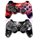 CHENGDAO PS3 Controller Wireless 2 Pack Double Shock Gamepad for Playstation 3 Remote,Sixaxis Wireless PS3 Controller with Charging Cable (Skull + Galaxy) (Renewed)
