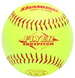 Diamond Sports 12RFP 47 375 Leather Cover Fastpitch Softball, Dozen (12-Inch)
