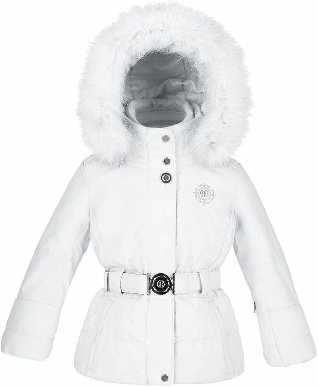 Poivre white Girls Fur Trim Ski Jacket