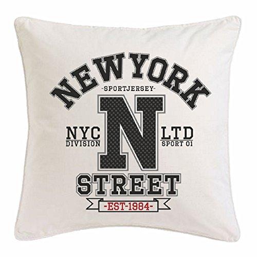 Reifen-Markt Funda de Almohada New York DIVISIÓN DE LA Calle DE New York América California EE.UU. Ruta 66 Camisa Motorista de la Motocicleta de New York NY Libert