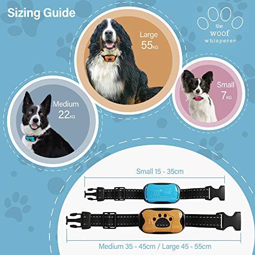 Anti Bark Dog Collar Sizes