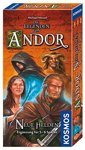 KOSMOS 692261 Die Legenden von Andor - Neue Helden, Ergänzung für 5 - 6 Spieler, mehr Vielfalt auch für 2 - 4 Spieler, ab 10 Jahren, Fantasy-Brettspiel