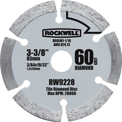 Rockwell RW9228 VersaCut 3-3/8-inch Diamond Grit Circular Saw Blade