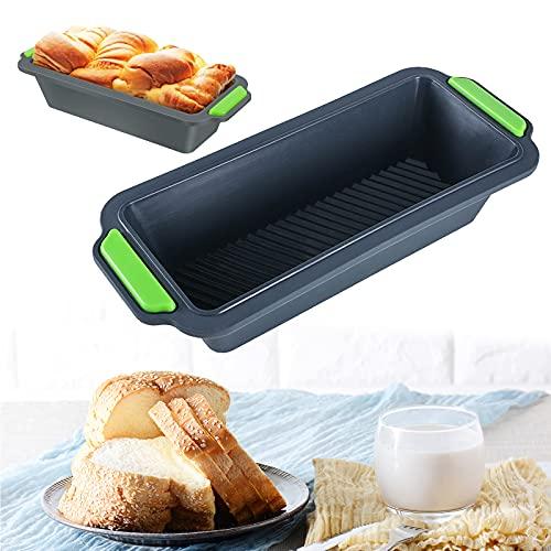 Silikon Backform Set, Antihaftende Silikon Brotbackform, Silikon Brot Backform und Kastenform, Große Brotbackform Kastenform für Kuchen, Toast, Brot, Rechteckig, Antihaftbeschichtet