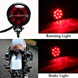Motorcycle Tail Light Red 8 LED Stop Lamp for Harley Chopper Bobber Cafe Racer Bike