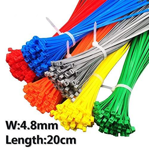 LDGR 4.8 Ancho 20pcs / Bolsa De Color Gris 5X200MM Autobloqueante De...
