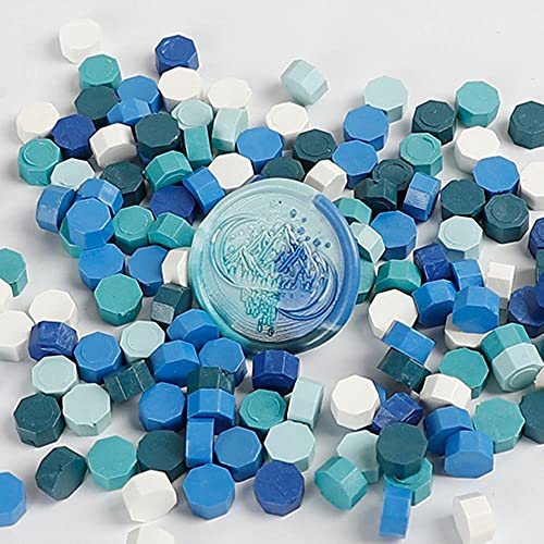 100 sellos multicolor octágonos lacre cera vintage pastilla perlas para sobres de cera de boda sellos antiguos lacre cera azul cielo
