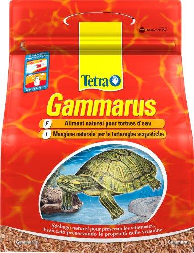 Tetra Gammarus – Aliment 100% naturel pour tortues aquatiques – Crevettes séchées - Riche en calcium, fibres et sels minéraux - 4L
