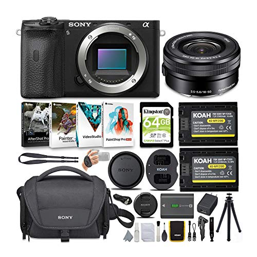 Sony Alpha a6600 APS-C Mirrorless ILC Bundle with...