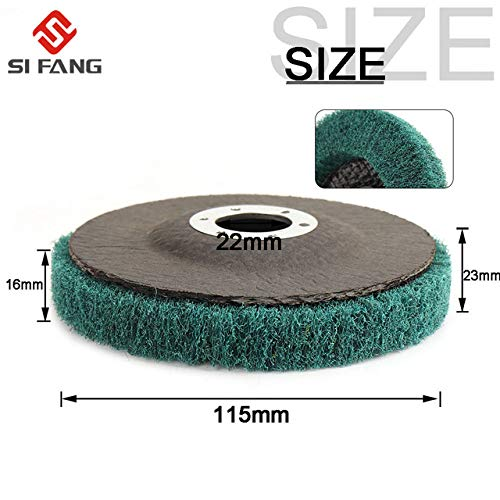 Lowest Prices! Xucus 115mm Nylon Fiber Flap Wheel Disc 4 1/2 inch Abrasive Disc with Sandpaper Buffi...