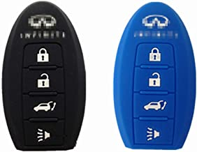 Silicone Protective Fob Skin Cover Shell Key Jacket for INFINITI EX35 FX35 FX50 G35 G37 M35 M35h M45 M56 QX56 Smart Key Case Fob 4bts