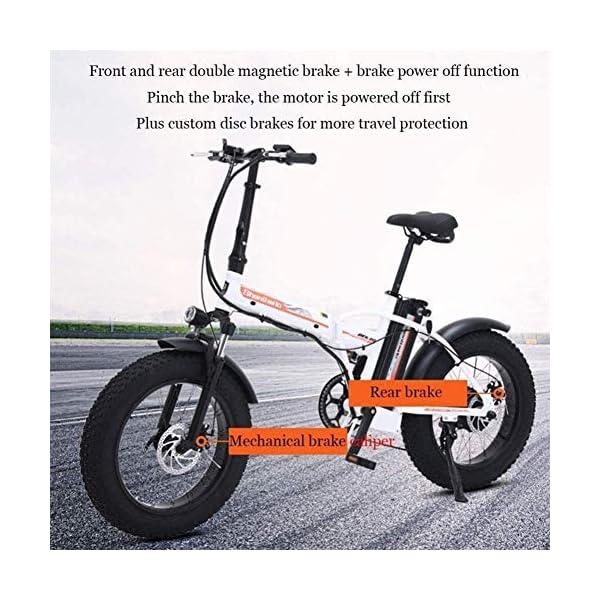 51uKDIJFrfL. SS600  - Elektrofahrrad klappbares für Erwachsene 500W Elektro-Klapprad Berg Schnee E-Bike Rennrad 15Ah 48V Lithium-Batterie 20-Zoll-Fat Tire 7 Variable Speed mit Dual-Scheibenbremsen bis zu 100 Kilometer