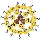 Lot de 24emoji Porte-clés en peluche Mini Lovely émoticône emoji Porte-clés...