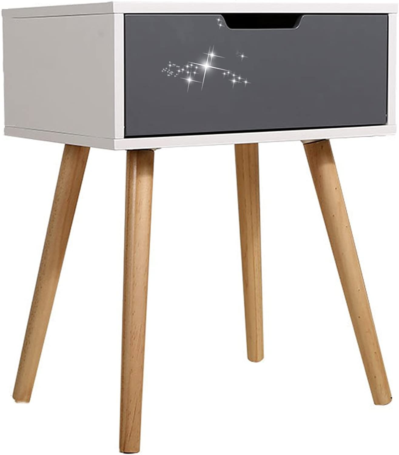 Bedside Table Solid Wood Bedside Storage Cabinet Simple Desk Magazine Table Bedside Small Cabinet Living Room Items Storage and Storage Small Table with Drawer