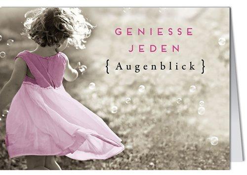 Grußkarte MINI +++ LUSTIG von modern times +++ GENIESSE JEDEN AUGENBLICK +++ BK.EDITION © Pigment Productions Ltd