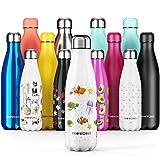 Proworks Edelstahl Trinkflasche 24 Std. Kalt und 12 Std. Heiß - Vakuum Wasserflasche - Perfekte Isolierflasche für Sport, Laufen, Fahrrad, Yoga, Wandern und Camping - 500ml - Unterwasserwelt