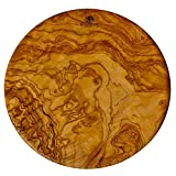 (D) Berard Round French Olive Wood Cutting Board,...