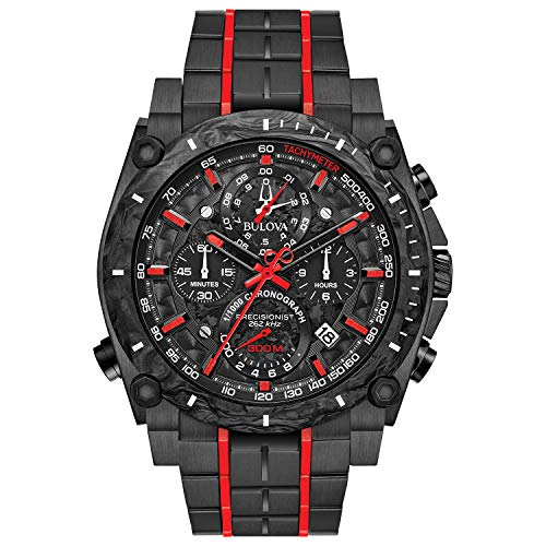 Bulova Herren Chronograph Quarz Uhr mit Edelstahl Armband 98B313