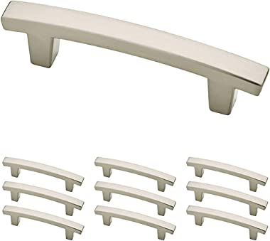 Franklin Brass Satin Nickel Pierce Handle Pull, Cabinet Handles and Drawer Pulls for Kitchen Cabinets and Dresser Drawers, 3