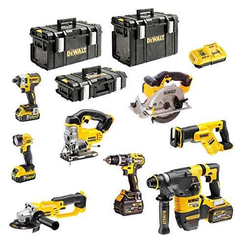 DEWALT Kit DCK-FP833BMP4 54V/18V (DCD796 + DCG412 + DCH333 + DCS387 + DCS391 + DCS331 + DCL040 + DCF887 + 2 x 5,0 Ah 18V + 2 x 6,0 Ah 54V/18V + DCB118 + DS150 + DS300 + DS400)