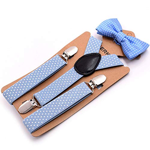 DYDONGWL Suspenders/Baby Suspenders Mode Kids Braces met Tie Environmental Clasps Suspenders Set Kinderen Elastische Band 2.5 X 65cm