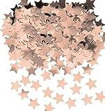amscan-9903473 Rose Gold Coriandoli con stelle lucide, color oro rosa metallizzato, 14 g, confezione da 1, 11012188