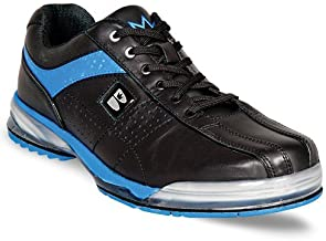 Brunswick Men's TPU X Bowling Shoes (Left Handed), Black/Royal, 8