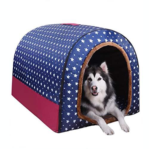 Haustierbett Flauschig Hundebetten Haustier-Nest Kennel faltbare weiche warme Haustier-Haus Betten Halb geschlossen Plüsch-Haustier-Höhle 2 in 1 faltbares Hundeschlafkissen Hundecouch Hundekorb