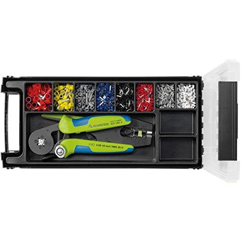 Rennsteig adereindhulzen (kabelschoenen) set, krimptang, striptang - 0,5; 0,75; 1; 1,5; 2,5; 4; 6; 10mm2; - 610902
