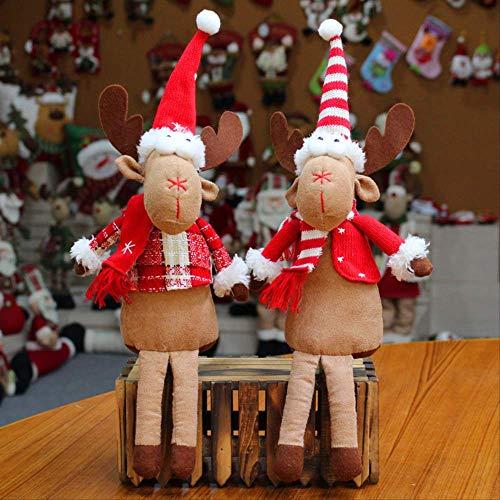SUPERHUA Arco de decoración navideña Pone muñeca de Tela navideña sentada en un Creativo Producto navideño