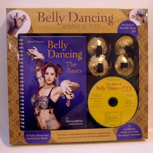 Belly Dancing Book & Kit with Best of Belly Dancing CD and Brass Zills