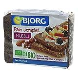 Bjorg Pain Complet Muesli Bio - Prétranché - Riche en fibres, Source de magnésium et phosphore - 1 paquet de 300 g