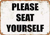 自分で座ってください、ブリキのサインヴィンテージ面白い生き物鉄の絵画金属板ノベルティ