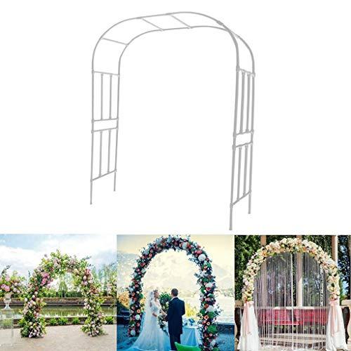 Einfache Clematis Verstärkte Klettergerüst Innenhof Balkon Gartenbogen Blumenrahmen Villa Rose Blume Traubenrahmen Bogen Blumenrahmen für Verschiedene Kletterpflanzen Starke Tragfähigkeit