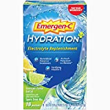 Emergen-C Hydration+ Sports Drink Mix With Vitamin C (18 Count, Lemon Lime Flavor), Electrolyte...