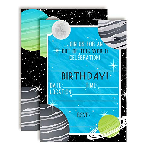 space birthday invitations - 6