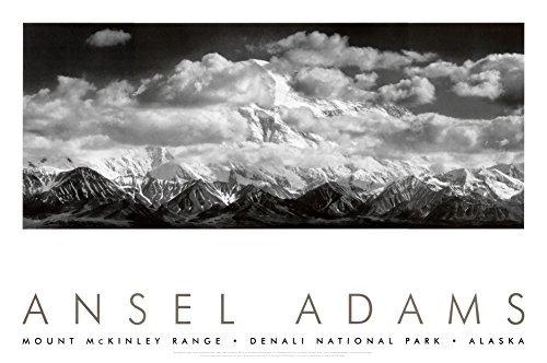 Mt. McKinley Range, Clouds, Denali National Park, Alaska, 1948 Art Poster Print by Ansel Adams, 36x24 Photography Art Poster Print by Ansel Adams, 36x24 by Poster Discount