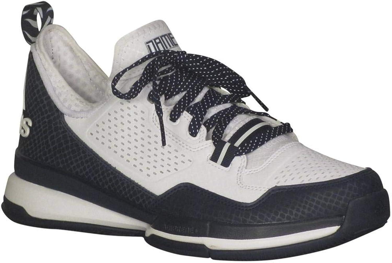 Adidas Men's D Lillard Basketball White Collegiate Navy White