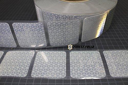 3M Reflexite VC 104+ Curtain Grade Segmentiert Konturmarkierung Reflexband (Weiß, 10 Meter (4,90 € / Meter))