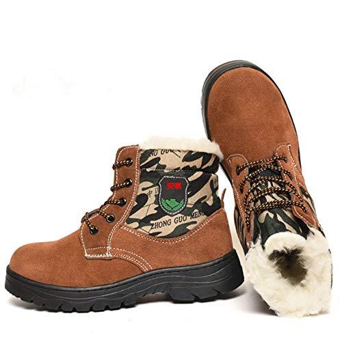shoes Winter-Arbeitsschuhe für Männer und Frauen, warme High-Top-Tarnschuhe, rutschfeste, verschleißfeste Arbeitsstiefel, geeignet für Outdoor, BAU, Konstruktion, Schweißen, Training, Klettern